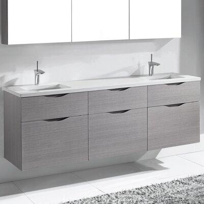 Bolano 72 Double Bathroom Vanity Set Base Finish: Ash Gray