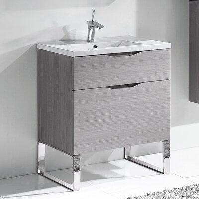Milano 30 Bathroom Vanity Set Base Finish: Ash Gray