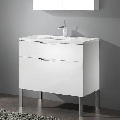Milano 30 Bathroom Vanity Set Base Finish: Glossy White