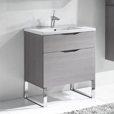 Milano 36 Bathroom Vanity Set Base Finish: Ash Gray