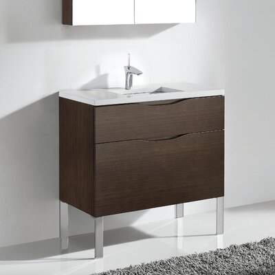 Milano 48 Bathroom Vanity Set Base Finish: Walnut