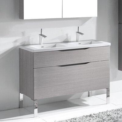 Milano 48 Double Bathroom Vanity Set Base Finish: Ash Gray