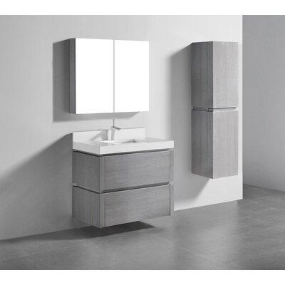 Cube 36 Single-Hole Bathroom Vanity Set Base Finish: Ash Gray