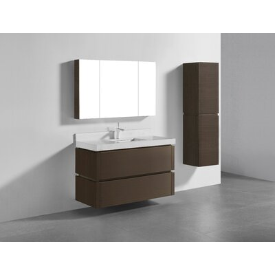 Cube-48 Single-Hole Bathroom Vanity Set Base Finish: Walnut