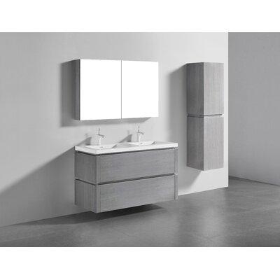 Cube 48 Double Bathroom Vanity Set Base Finish: Ash Gray