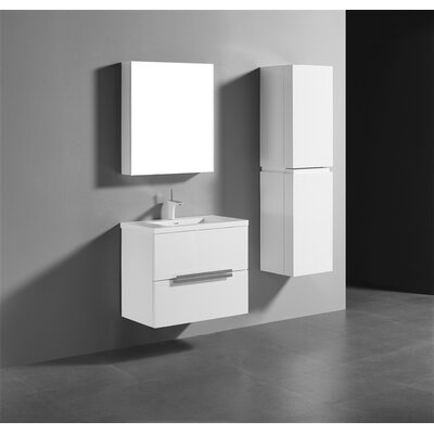 Janeen 30 Single Bathroom Vanity Set Base Finish: Glossy White