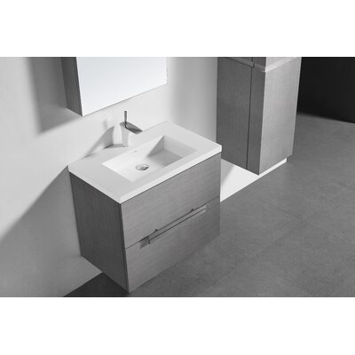 Janeen 24 Single Bathroom Vanity Set Base Finish: Ash Grey