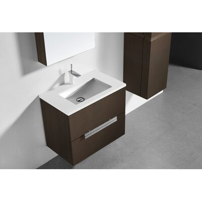Janeen 30 Single Bathroom Vanity Set Base Finish: Walnut