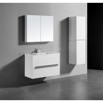 Janeen 36 Single Bathroom Vanity Set Base Finish: Glossy White