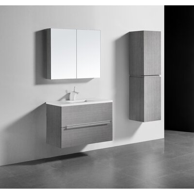 Janeen 36 Single Bathroom Vanity Set Base Finish: Ash Gray