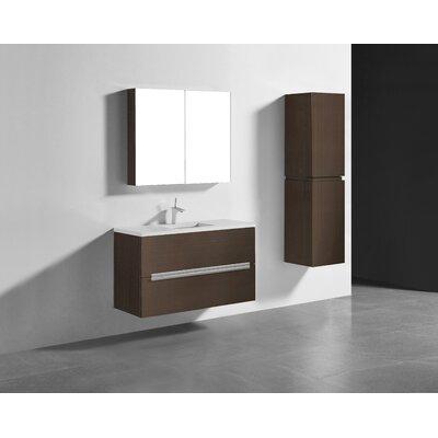 Janeen 42 Single Bathroom Vanity Set Base Finish: Walnut