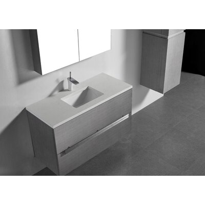Janeen 42 Single Bathroom Vanity Set Base Finish: Ash Gray