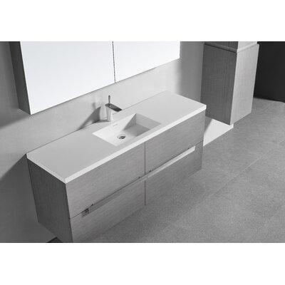 Janeen 60 Single Bathroom Vanity Set Color: Ash Gray