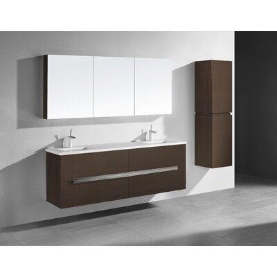 Janeen 72 Double Bathroom Vanity Set Color: Walnut