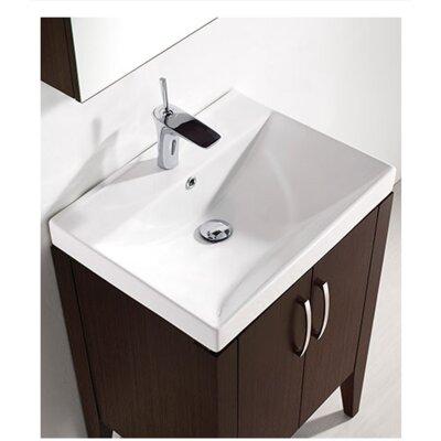 Caserta 24 Single Bathroom Vanity Set Base Finish: Walnut