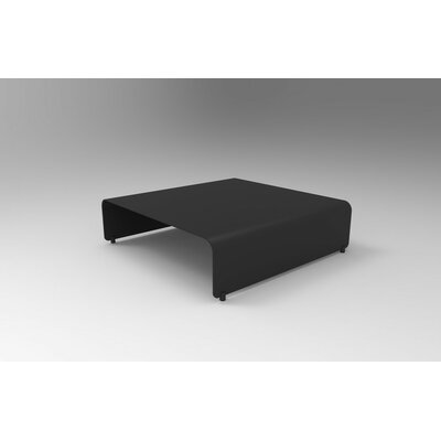 Botanist Sumo Coffee Table Size: 10 H x 38 W x 38 D, Color: Black Satin