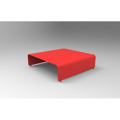 Botanist Coffee Table Size: 10 H x 38 W x 38 D, Color: Red Satin