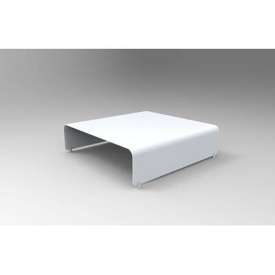 Botanist Coffee Table Size: 10 H x 38 W x 38 D, Color: White Satin