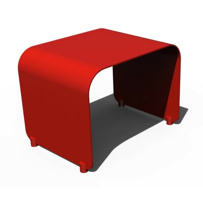 Botanist Flow Side Table Finish: Red Satin