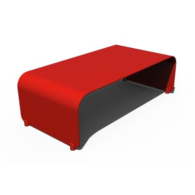 Botanist Flow Coffee Table Finish: Red Satin