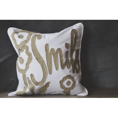 Patina Vie Smile 100% Cotton Throw Pillow