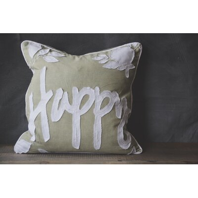 Patina Vie Happy 100% Cotton Throw Pillow