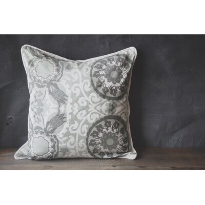 Patina Vie Chambray Suzani 100% Cotton Throw Pillow