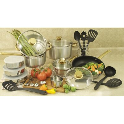 31-Piece Stainless Steel Cookware Set 552