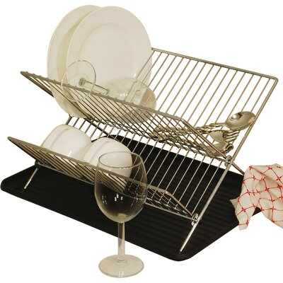 2 Piece Folding Dish Rack Set