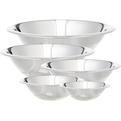Cook Pro 5 Piece Stainless Steel Mixing Bowl Set 717