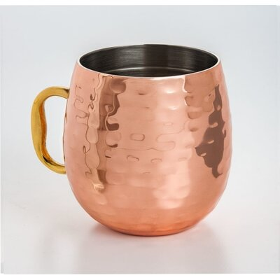 Galyean Double Wall Copper Plated 18 oz. Moscow Mule Cup IVYB2190 39061667