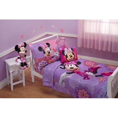Minnie's Fluttery Friends 4 Piece Toddler Bedding Set