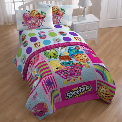 Shopkins Patchwork 132 Thread Count Extra Deep Pocket Sheet Set