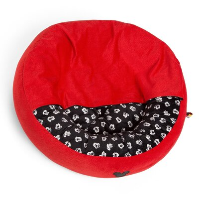 Mickey Mouse Cozy Cuddler Size: Medium - 27 L x 27 W, Color: Red