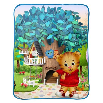 Daniel Tiger Treehouse Pals Plush Throw Blanket