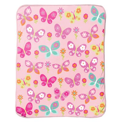 Just For Kids Butterfly Plush Throw