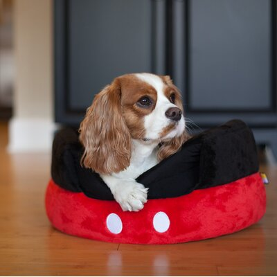 Mickey Mouse Pants 2-in-1 Honeycomb Hut Cuddler Pet Bed