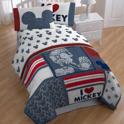 Mickey 4 Piece Toddler Bedding Set JF24876WFML