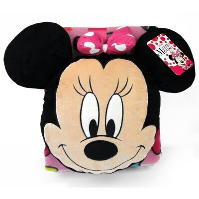 Nogginz Minnie 2 Piece Pillow and Blanket Set JF16824WFML