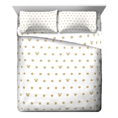 Minnie Mouse Dots 4 Piece Sheet Set Size: Queen