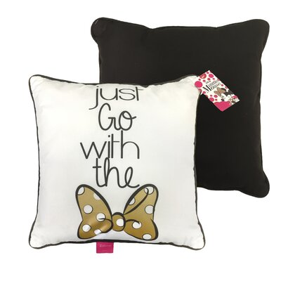 Minnie Mouse Just Go with the Bow Plush Decorative Toss Throw Pillow