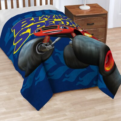 Fast Track Nickelodeon Blaze Fleece Blanket