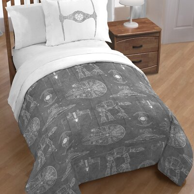 Classic Falcon Star Wars Reversible Comforter Set