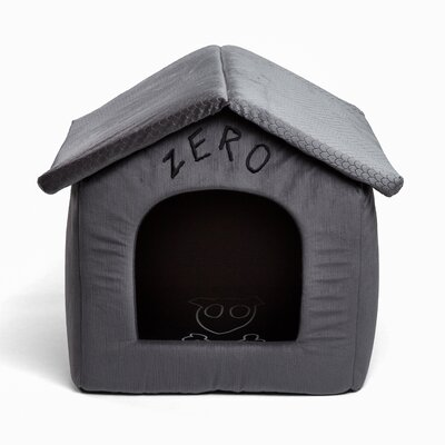 Nightmare Zero Hooded Dog Bed with Detachable Top Size: 16 W x 16 D x 18 H