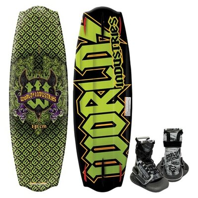Image of World Industries World Industries Devil's Crest Wakeboard with Mud Buddy Binding (WIW-5016)