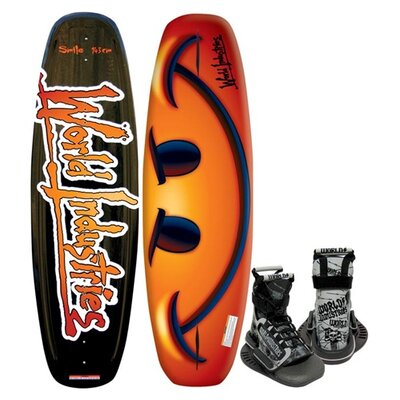Image of World Industries World Industries Smile Wakeboard with Mud Buddy Binding (WIW-46)