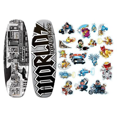 Image of World Industries World Industries Stick-O-Rama Wakeboard (WIW-2010)