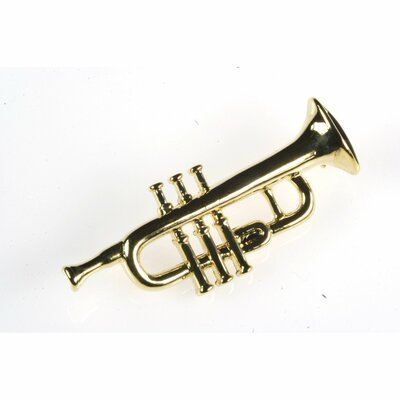 Trumpet Stick Pin in Gold