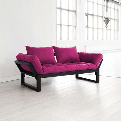 Futon and Mattress Finish: Pink/Black
