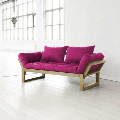Futon and Mattress Finish: Pink/Natural